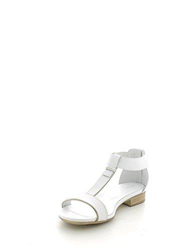 Sandalo basso bianco con t-bar e zip N. 36