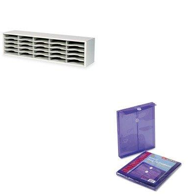 KITSAF7751GRSMD89544 - Value Kit - Smead Poly String amp;amp; Button Envelope (SMD89544) and Safco E-Z Sort Steel Mail Sorter Module (SAF7751GR)