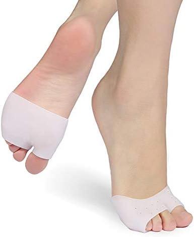 Weiche Silikon-Gel-Zehenkappen Mittelfußpolster Zehenschutz-Abdeckungen mit Fußkissenkissen Zehenschutz-Einlegesohle