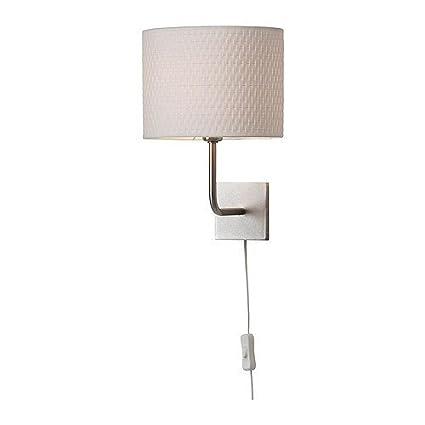 Lampada A Muro Ikea.Ikea Alang Lampada Da Parete Nichelata 25 Cm Bianco