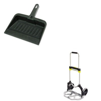 KITRCP2005CHASAF4062 - Value Kit - Safco Stow-Away Medium Hand Truck (SAF4062) and Rubbermaid-Chrome Heavy Duty Dust Pan (RCP2005CHA)