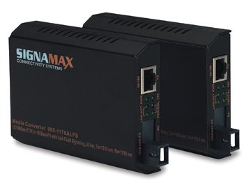 Signamax 065-1176ALFSMM 10/100 to 100FX Single Fiber WDM Media Converter 10/100BaseT/TX to 100BaseFX Single Fiber (WDM) Media Converter SC Simplex/MM, Tx=1310 nm; Rx=1550 nm, 2 km Span by signamax