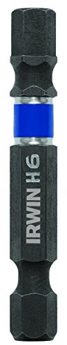 IRWIN Tools 1899879 Impact Performance Series Screwdriver Power Bits, 6mm Hex, 2-Inch Length, 10-Pack ()