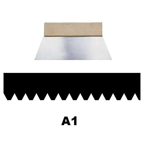 Leim Klebstoff Zahnspachtel Bodenleger Normalstahl A1 0.6x1.4mm gezahnt 250mm Riethmüller