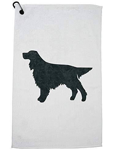 - Hollywood Thread Gordon Setter Dog Golf Towel with Carabiner Clip
