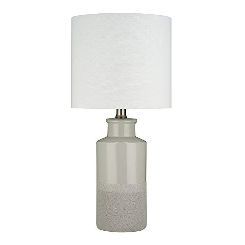 - Stone & Beam Table Lamp with a Drum Shade, Bulb Included, 19.75