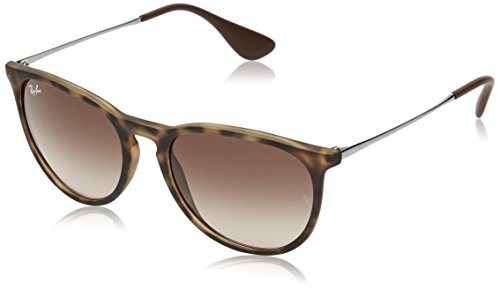 Ray Ban Erika Women's Wayfarer Sunglasses,Rubber Havana,54mm>