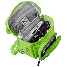 Orzly Travel Bag for Nintendo DS Consoles (New 2DS XL / 3DS / 3DS XL / New 3DS / New 3DS XL / Original DS / DS Lite / DSi / etc.) - Includes Belt Loop, Carry Handle, Shoulder Strap - GREEN from Orzly