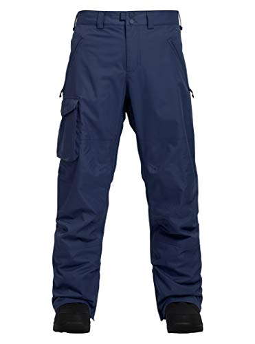 (Burton Men's Insulated Covert Snowboarding Pant, Storm Blue Ripstop, Large)
