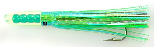 C & H Custom Lures C and H Rattle Jet Series, Green Silver ()