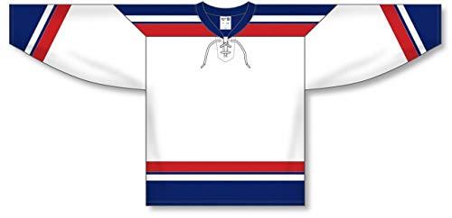 2005 Team Jersey - 2005 Team USA White Taper Neck with Underlay Pro Plain Blank Hockey Jerseys