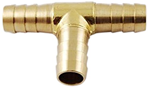 MettleAir 123-8 1/2'' ID Hose Barb Tee T Union Fitting Intersection/Split Brass (Pack of 10)