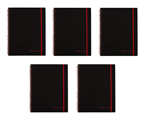 Black n' Red Twin Wire Poly Cover Notebook, 11