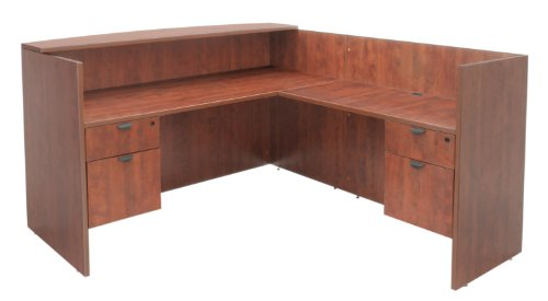 (Regency Legacy Double Box File Pedestal Reception Desk- Cherry)