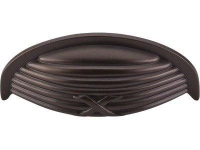 - Top Knobs M940 Edwardian Collection 3 Inch Ribbon & Reed Cup Cabinet Pull, Oil Rubbed Bronze Finish