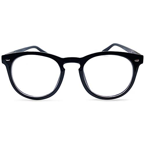 - Brooklyn Large Oval Bifocal Reading Glasses Set (Midnight Black, 2.0)