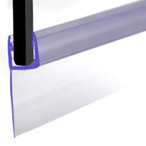 Veebath Essentials per vasca da bagno e doccia tipo guarnizione per 4–6mm dritto o curvo Shower Door Seal guarnizione per vasca da bagno fino a 20mm di distanza