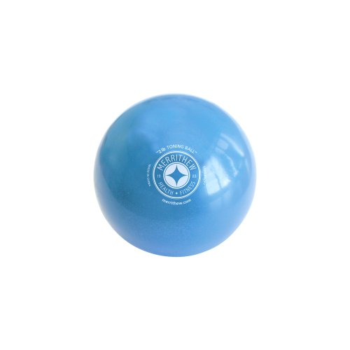 STOTT PILATES Toning Ball (Blue), 2 lbs / 0.9 kg