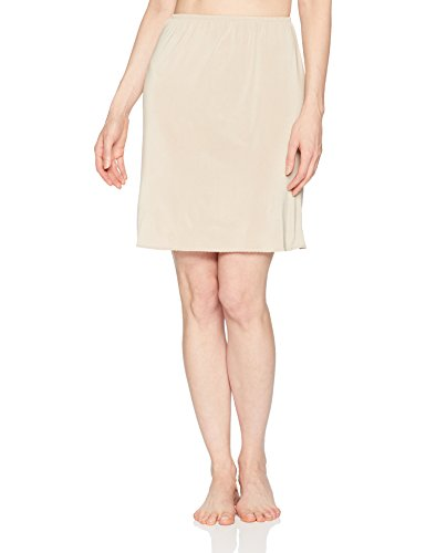 Dress Less Ladies (Jones NY Women's Silky Touch 19 Anti-Cling Above Knee Half Slip, Nude,)