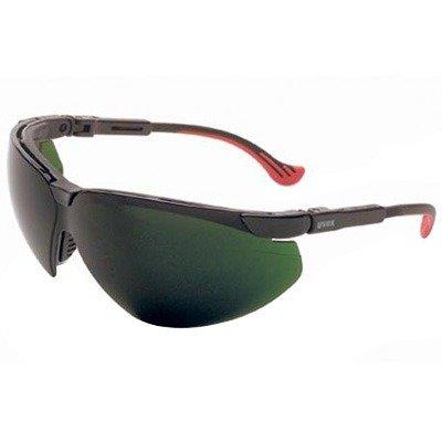 Safety Frame Xc Uvex Glasses - Uvex S3307 Genesis XC Safety Eyewear, Black Frame, Shade 5.0 Infra-Dura Ultra-Dura Hardcoat Lens