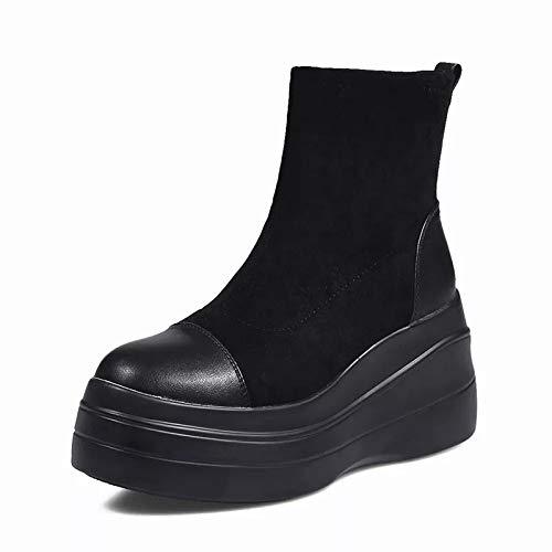 Shukun Stiefeletten Weiblicher Wilder Martin der Schuhherbst lädt die Plattformstiefel der Frauen mit den einzelnen Aufladungsschuh-Frauenstiefeln auf
