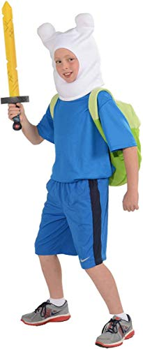 Adventure Time Childs Deluxe Finn Costume, Large