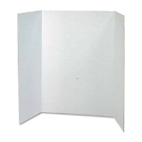 RiteCo 22101 Tri-Fold Display Boards, 48'' x 36'', White (Pack of 24) by RiteCo