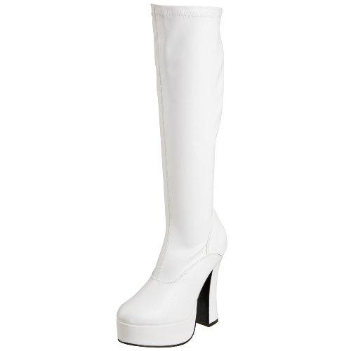 Wht Bianco Faux talla 2000Z Damen Pleaser Polacchine 44 UK color 11 ELECTRA Leather donna EU Str xwpRAHYq