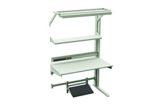 "Sovella 14-C12535308 TL Advantage ESD laminate Steel Single Sided Add On Workstation with Shelf, 880 lbs Capacity, 48"" Width x 75.59"" Height x 30"" Depth, Grey"