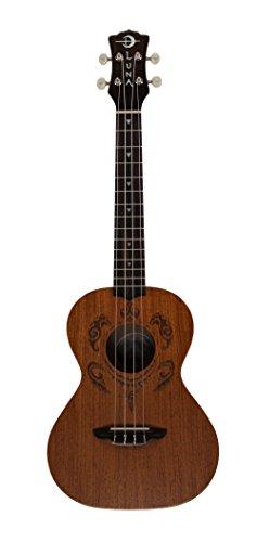 Luna Guitars Honu Tribal Turtle Tenor Ukulele Satin Natural by Luna Guitars