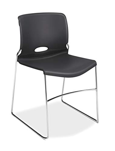 HON Olson Stacking Chair - Guest Chair for Office, Cafeteria, Break Rooms, Training or Multi-Purpose Rooms, Lava, 4 pack (H4041) (Stacking Guest Chair)