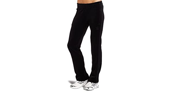 adidas Mujer de Velur pantalón de chándal, Mujer, Negro: Amazon.es ...