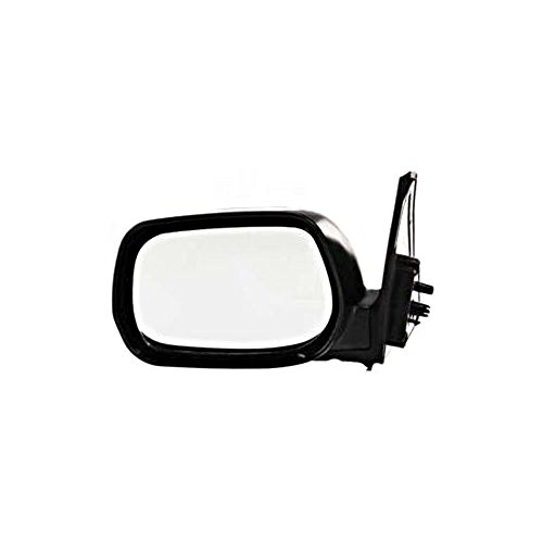 v4 Left Driver Mirror Manual Non-Painted Black (Toyota Rav4 Manual Mirror)
