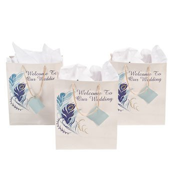 Amazon.com: Medio bolsas de regalo de boda – invitaciones y ...