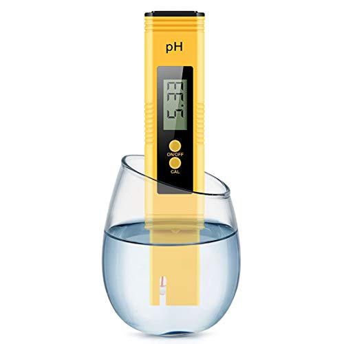Digital PH Meter, PH Meter 0.01 PH High Accuracy Water Quality Tester with 0-14 PH Measurement Range for Household Drinking, Pool and Aquarium Water PH Tester Design with ATC ()