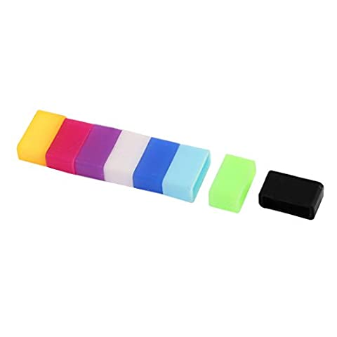 uxcell 8pcs Silicone Watch Band Buckle Ring Loop for 13mm Width Strap (Watch Strap Ring)