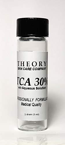 Trichloroacetic Acid 30% TCA Chemical Peel, 1 DRAM, Medical Grade, Wrinkles, Fine Lines, Freckles, Scars, Age spots