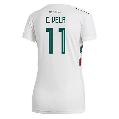 adidas C. Vela #11 Mexico Away Women's Soccer Jersey World Cup Russia 2018 (XL)