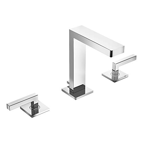 - Symmons SLW-3612 Duro Widespread 2-Handle Bathroom Faucet with Drain Assembly in Polished Chrome (2.2 GPM)