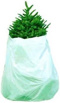 "Jumbo Christmas Tree Removal Bag and Skirt White Xtra Large 144 x 90"" 1.2 ML Heavy Duty"