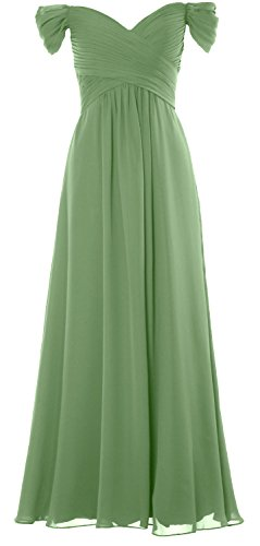 clover Gown Party Shoulder Prom the Off Chiffon Formal Wedding Long Dress Women MACloth qP7ZP