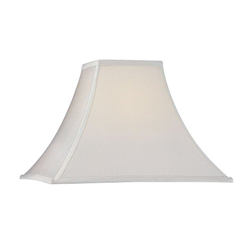 Dolan Designs 140021 Square Flare Soft Back with Piping Lamp Shade, White ()