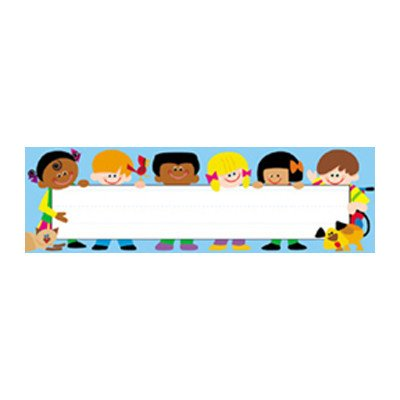 (Desk Toppers Trend Kids Name Tag [Set of)