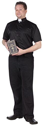 The Priest Movie Costume (UHC Men's Comical Holy Hammered Priest Fancy Dress Adult Costume, STD)