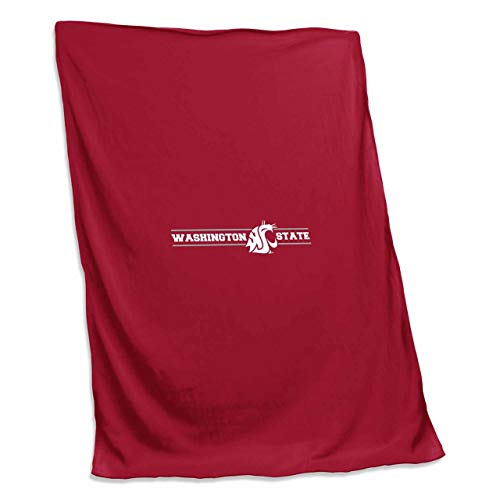 - Logo Washington State Cougars NCAA 54 X 84 Fleece Sweatshirt Blanket - Team Color,