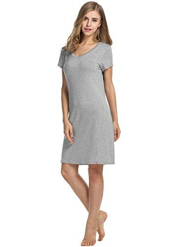 Avidlove - Camisón - para mujer gris
