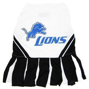Pets First NFL Detroit Lions Dog Cheerleader Dress, Medium]()