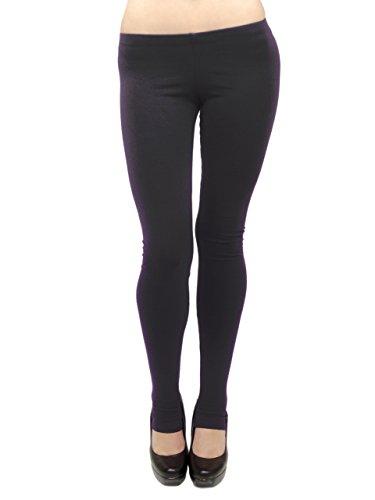 ng Leggings - Cotton/Stirrup, Misses Size (Black, 4X) ()