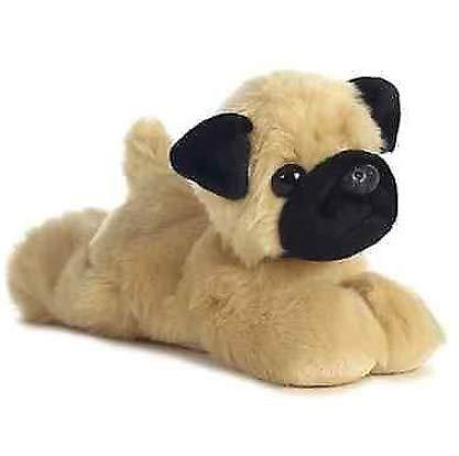 Pugster Bird - 8 inch Mini Flopsie Mr Pugster Pug Dog Plush Stuffed Animal All Seven