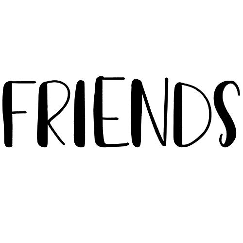 Friends Word Vinyl Wall Decal | Home Sticker Lettering Quote for Home Decor | Art Decoration | Friendship